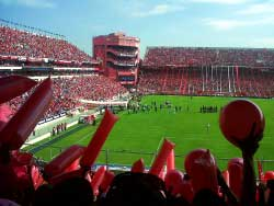 A stadium from the crowd in Buenos Aires