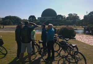 Bike tour with the Buenos Aires Planetarium in the background