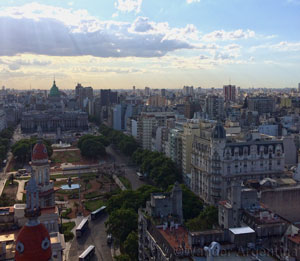 Congress square, Buenos Aires as seen from above. Book an architectural tour of Buenos Aires on Wander Argentina