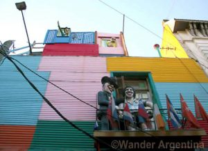 A colorful house in the historic La Boca, Buenos Aires