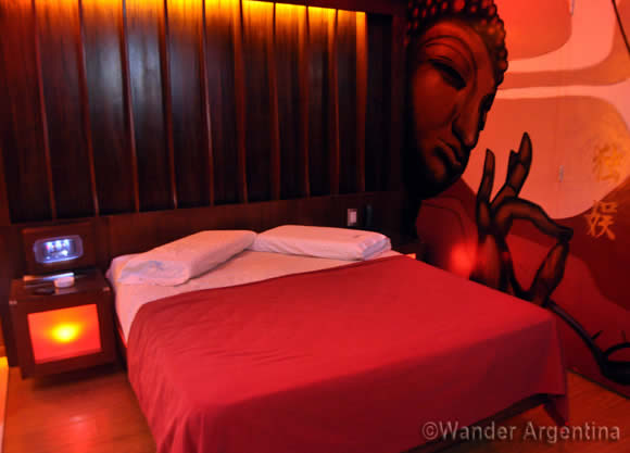 Typical telo (or sex hotel) room in Buenos Aires, Argentina