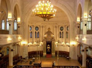 The interior of the Gran Templo Paso synagogue in Buenos Aires