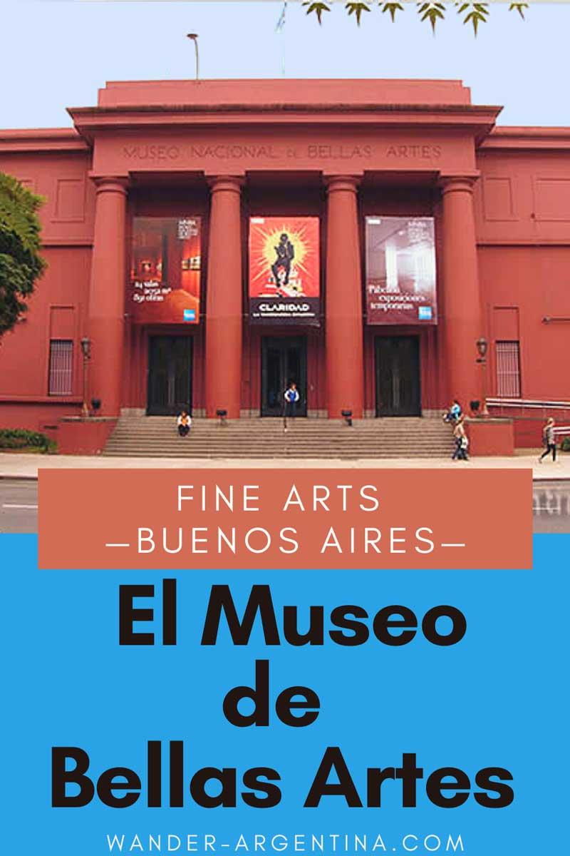 Fine arts in Buenos Aires - El museo nacional de Bellas Artes