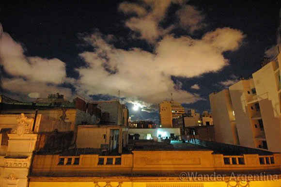 super moon over buenos aires on May 5, 2012