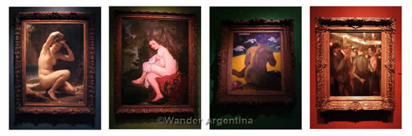 A montage of some of the major works at the National Museum of Fine Arts in Buenos Aires