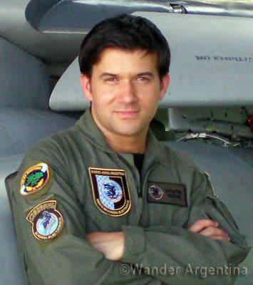 Ezequiel Martel, an Argentine Air Force Pilot whose dad was killed in the Falkland's War by UK CDR, Nigel Ward
