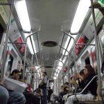 The interior of a buenos aires subway car