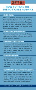 Infographic for SUBTE guide