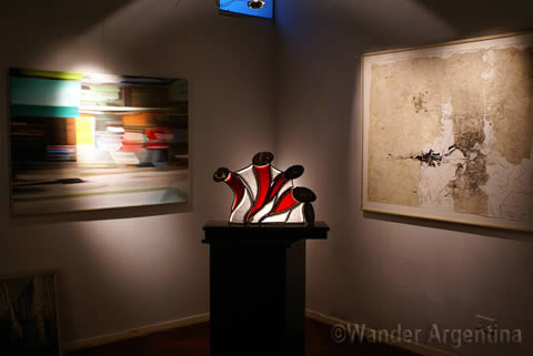 A picture of the corner of an art gallery in Mendoza