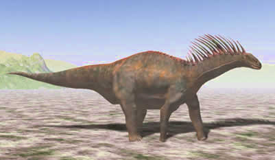 A pictoral of the Amargasaurus, which was native to Argentina