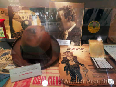 Memorabilia at the World Tango Museum in Buenos Aires, Argentina