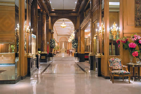 Luxurious hall of the Alvear Palace Hotel