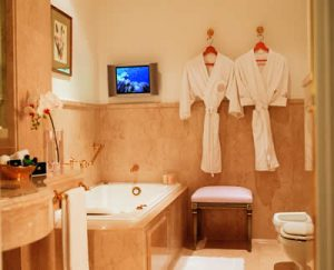 bathroom at the Alvear Palace Hotel