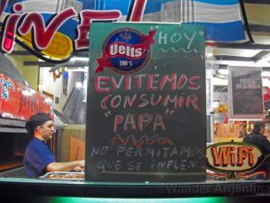 Foto of the Week — Potato Boycott Hits Buenos Aires