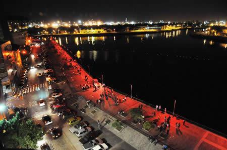 Buenos Aires La Boca waterfront during La Noche de Los Museos