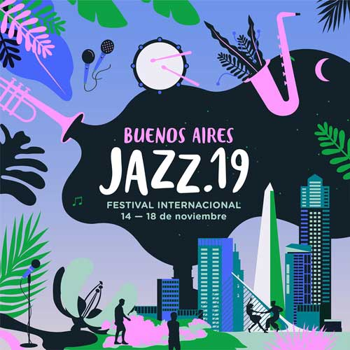 Colorful poster for the Buenos Aires Jazz Festival