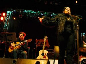 Singer, Roxana Amed with her Quintet performing at the Buenos Aires Jazz Festival in 2011