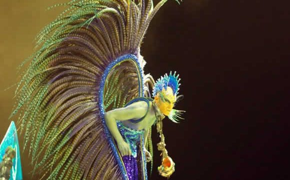 A performer at Carnival in Gualeguaychu