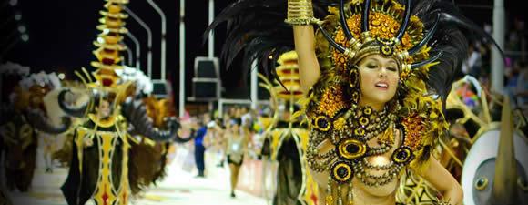 Corso dancers performing at Carnival in Gualeguaychu, Entre Rios