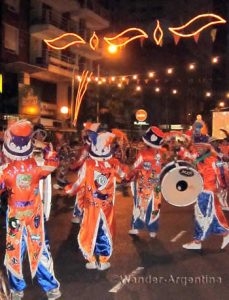 typical outfits of murga members --carnival buenos aires