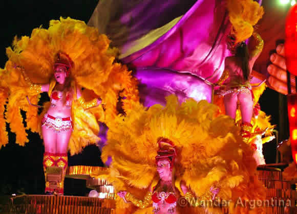 Female performers at Carnival in Gualeguaychú