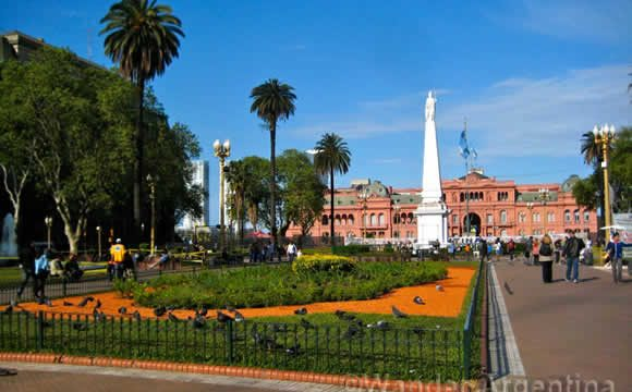 The Casa Rosada in Buenos Aires Argentina