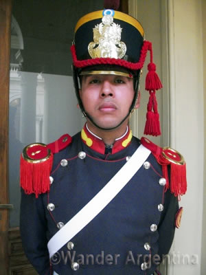 A royal gaurd at the Casa Rosada Government House in Buenos Aires