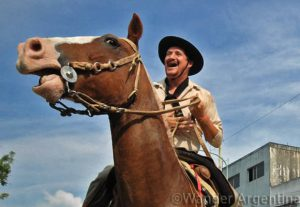 Happy Gaucho at the Mataderos Fair