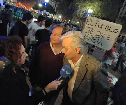 Cacerolazo 18-A pot-banging protest in the Plaza de Mayo of Buenos Aires