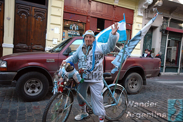 An Argentina man celebrates 25 of May, May Revolution Day an official holiday