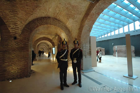 Guards in the Museo de Bicentenario in Buenos Aires