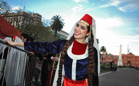 An Armenian Argentine dancer gets ready to take the stage in Buenos Aires
