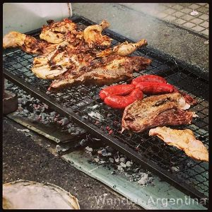 Street side asado (Argentine barbecue)