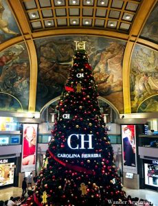 The Christmas Tree at Galerias Pacificos shopping mall in downtown Buenos Aires