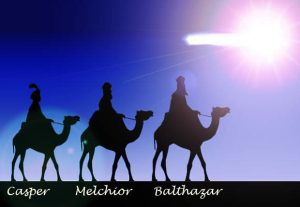 The three Kings, Casper, Melchior, and Balthazar