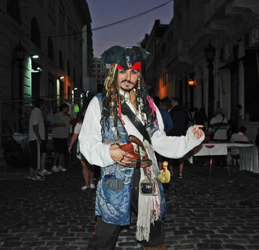 Jack Sparrow in San Telmo, Buenos Aires
