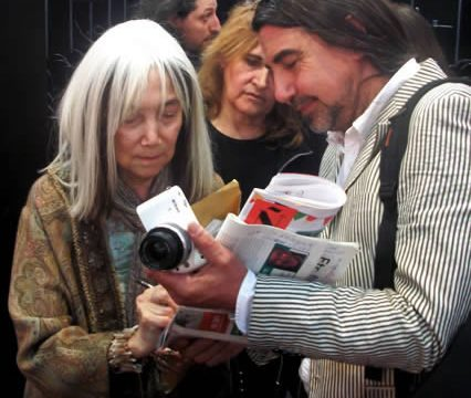 Maria Kodama, Jorge Luis Borges' widow at the Buenos Aires Feria del Libros, South America's largest book fair