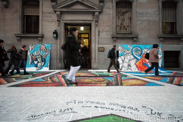 art installation at the Buenos Aires City Legislature