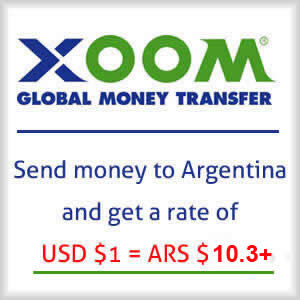 Send dollars to Argentina and get a great rate!