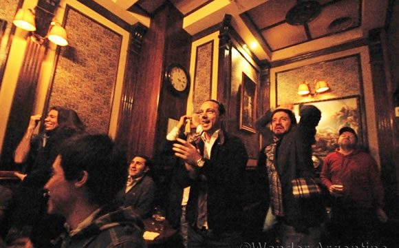 Elated world cup fans in buenos aires react to a goal in overtime