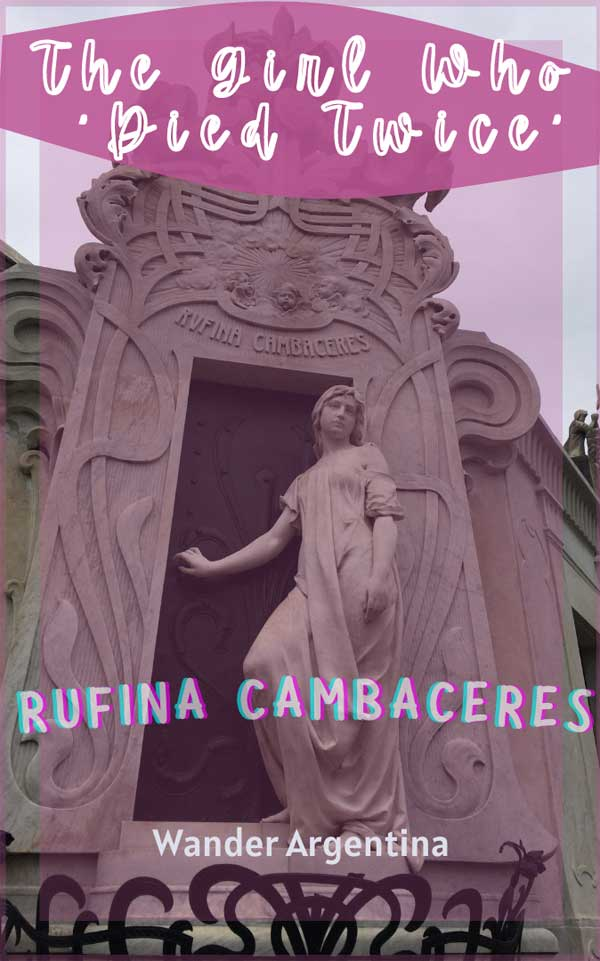 Rufina Cambaceres 'the girl who died twice'