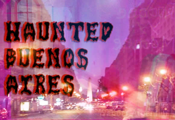 'Haunted Buenos Aires' city image with spooky figures and the obelisco