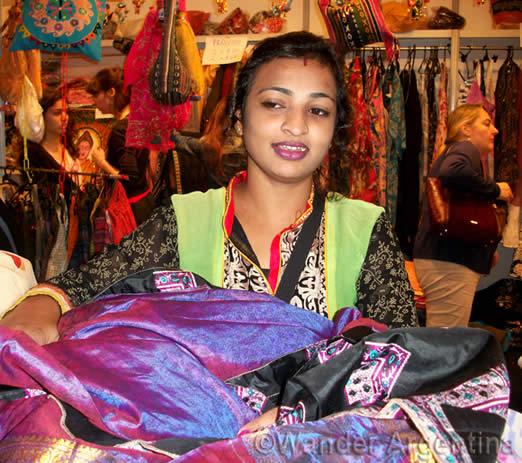 A vendor at Buenos Aires' Festival de la India