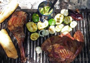 Basic asado (barbeque) in the Argentine countryside