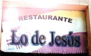 Lo de Jesus restaurant sign