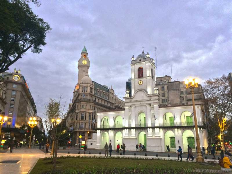 The Cabildo of Buenos Aires, in Plaza de Mayo