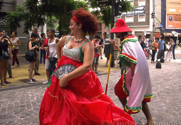 Dancers in Buenos Aires Carnival of African Descent