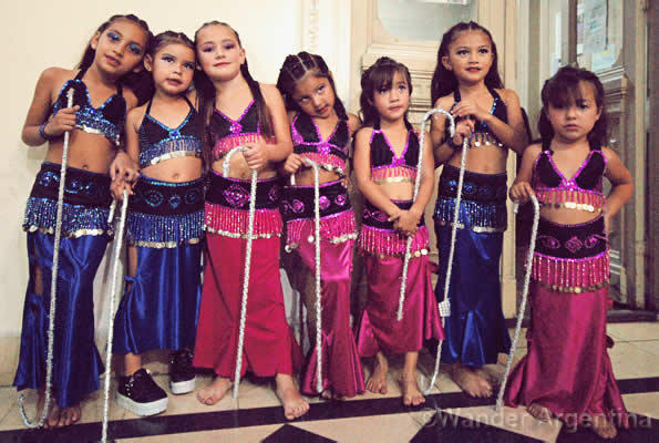 Under 8 bellydance troupe in La Plata, Argentina