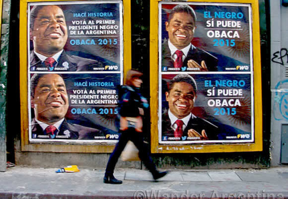 Billboards for Omar Obaca in Buenos Aires