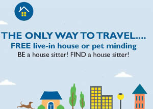 Be a house sitter ad